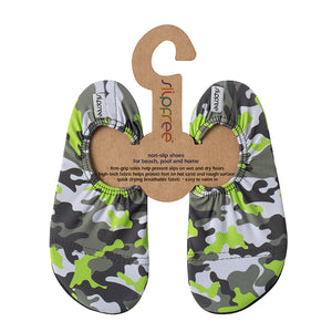 Slipfree Oscar Camo Children's Beach and Pool Shoes