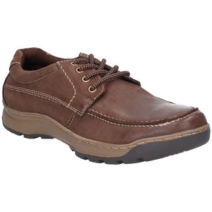 Hush Puppies Tucker Mens Brown Leather Lace up Shoes - elevate your sole