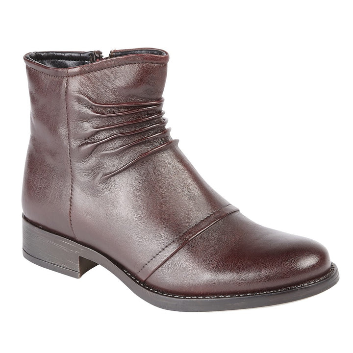 Lotus Bannock Bordo Leather Ankle Boots - elevate your sole