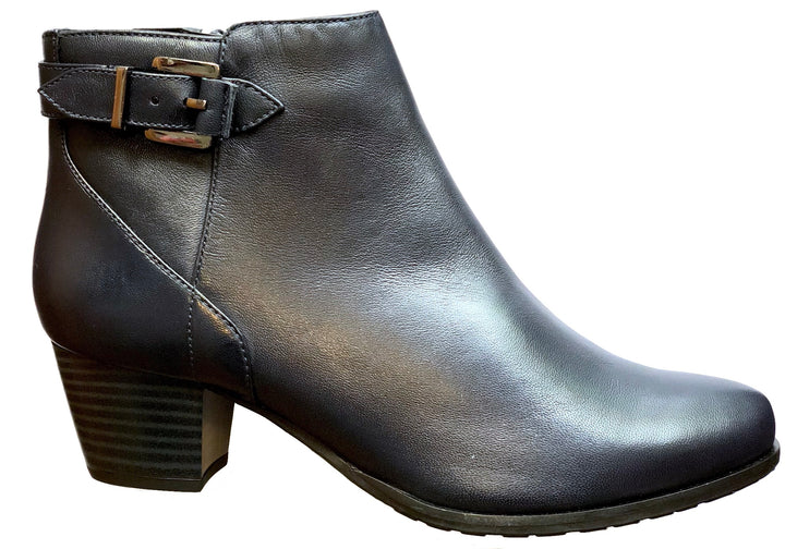 Van Dal Porter Midnight Navy Leather Ankle Boots E