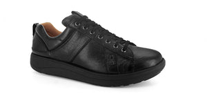 Strive Weston II Ladies All Black Leather Lace-Up Shoes