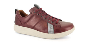 Strive Weston Ladies Plum Leather Lace-Up Shoes