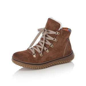 Rieker Z4233-24 Ladies Brown Lace Up Boots