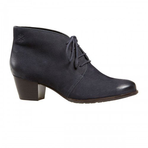 Van Dal Amity Blue Nubuck Leather Ankle Boots