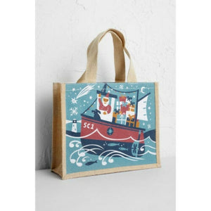 Seasalt Cute Jute Santa fishing boat