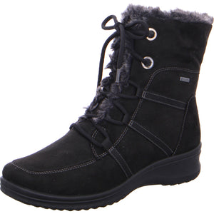 Ara 12-48554-65 Ladies Black Waterproof Lace Up Boots