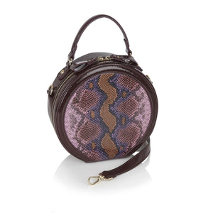 Ruby Shoo Alberta Ladies Burgundy Circle Handbag