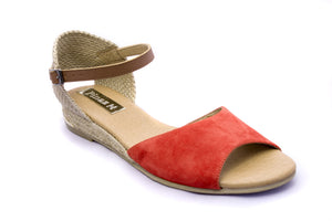Pinaz Orion Orange Suede Espadrille Sandals - elevate your sole
