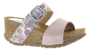 Adesso Lily A4745 Rose Pink Floral Mule Wedge Sandals - elevate your sole