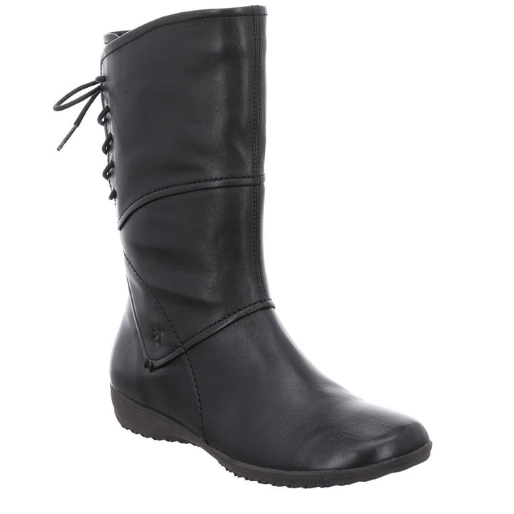 Josef Seibel Naly 07 Black Leather Mid Calf Boots - elevate your sole