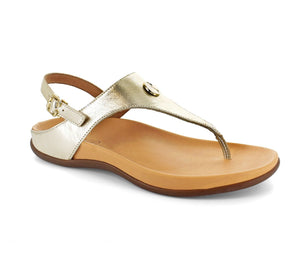 Strive Tropez Light Gold Slingback Sandals