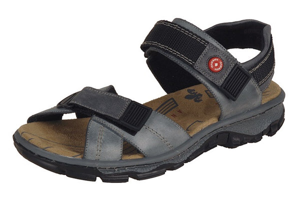 Rieker 68851-12 Ladies Grey Leather Walking Sandals