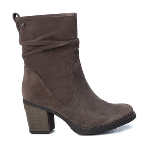 Carmela 67080 Taupe Suede Mid Calf Heeled Boots - elevate your sole
