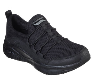 Skechers 149056 Arch Fit Lucky Thoughts Ladies Black Slip On Trainers
