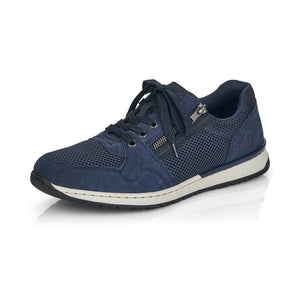 Rieker B5101-14 Mens Navy Lace Up Shoes