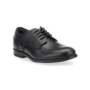 Start-Rite Brogue Pri 2745-7 Unisex Black Leather Lace Up School Shoes - elevate your sole
