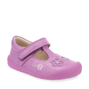 Start-Rite First Mia 0743-2 Girls Bright Pink Leather T-Bar First Shoe