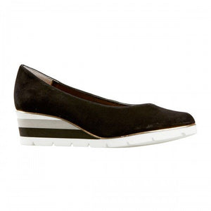 Van Dal Ariah Black Suede Wedge Shoes - elevate your sole