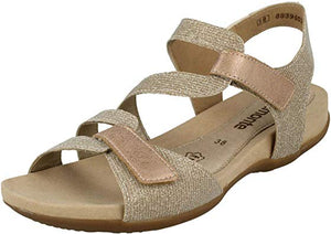 Remonte R3259-31 Glitter Rose Gold Ladies Sandals - elevate your sole