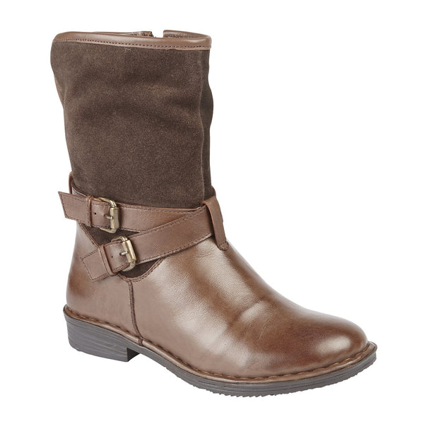 Lotus Gallatin Brown Leather/Suede Ankle Boots