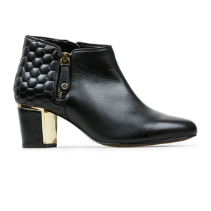 Van Dal Arial IV 3166 Ladies 1001 Black Leather Heeled Ankle Boots