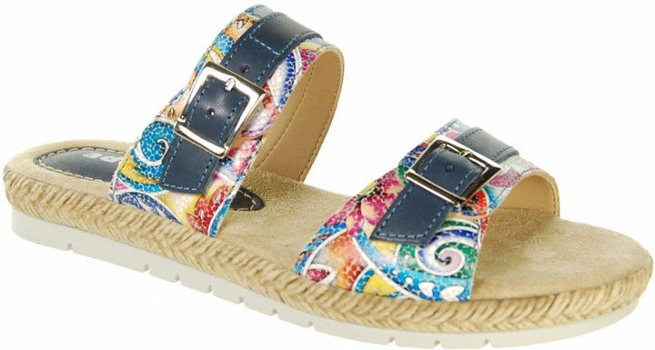 Adesso A3617 Nellie Navy Multi Leather Sandals - elevate your sole