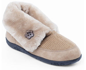 Padders Eden Camel Beige Boot Slippers - elevate your sole