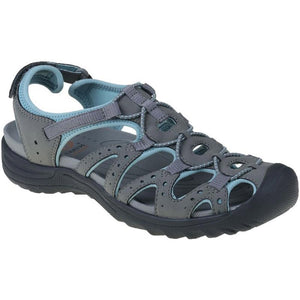 Earth Spirit 30259 Midway Ladies Grey & Aqua Walking Sandals
