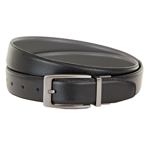 TBBC Hayhurst Reversible Leather Belt Grey/Black - elevate your sole