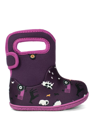 Bogs Baby Farm Kids Purple Multi Waterproof Boots