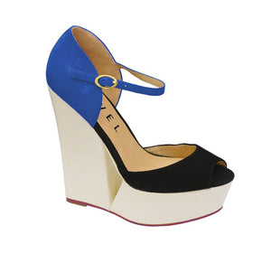 Size 6 Only - Ravel Lagoon Cobalt Suede Wedges - elevate your sole