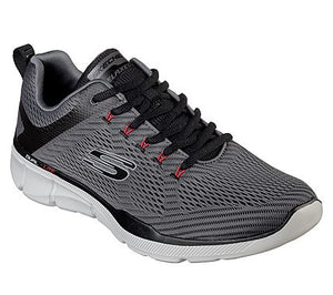Skechers Mens 52927 Equalizer Grey Black Lace Up Trainers