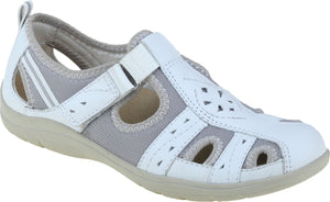 Earth Spirit Cleveland Ladies White Touch Fastening Walking Shoes