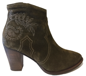 Alpe 34511150 Forest Green Suede Ankle Boots - elevate your sole