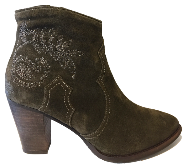 Alpe 34511150 Forest Green Suede Ankle Boots