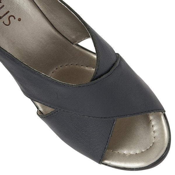 Lotus Trino Navy Leather Sandals