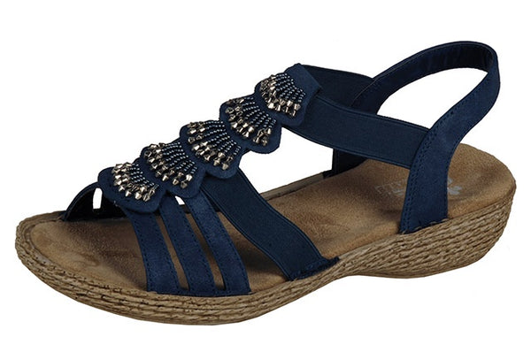 Rieker 65869-14 Ladies Navy Summer Sandals