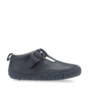 Start-Rite Baby Jack 0746-9 Boys Navy Leather T-Bar Pre-Walker Shoes - elevate your sole
