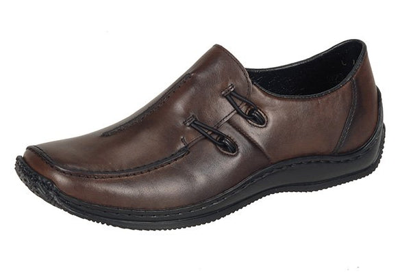 Rieker L1751-25 Brown Combi Leather Loafers