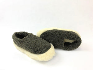 Yoko Full Unisex Dark Grey Wool Slippers