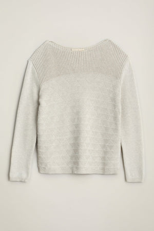 Seasalt Harbour Beach Ladies Jumper Ecru White