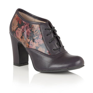 Lotus Hallmark Lian Purple Leather Shoe Boots - elevate your sole