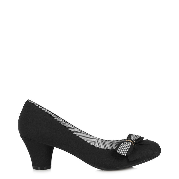 Ruby Shoo Lily Black Court Shoes