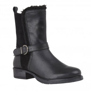 Lotus Maddy ULB071 Ladies Black Leather Mid Calf Boots