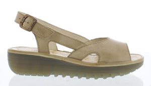 Fly Elfe 848 Ladies Cream Leather Sandal