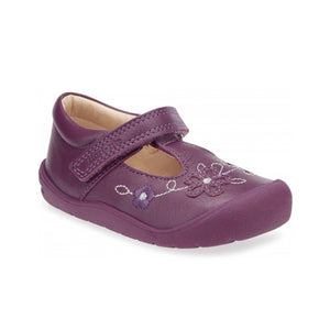 Start-Rite First Mia 0743-8 Girls Berry Leather T-Bar First Shoe - elevate your sole