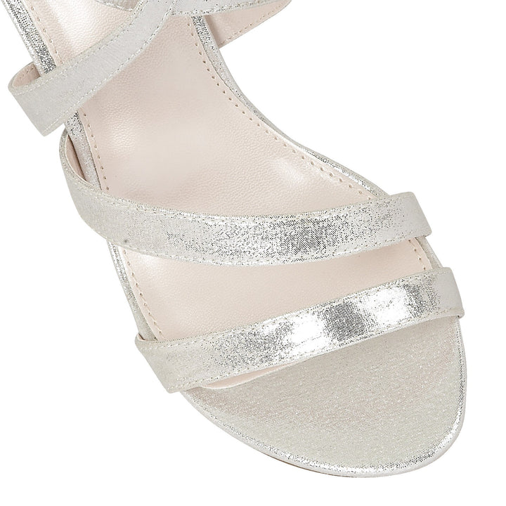 Lotus Gabby Silver Shimmer Evening Sandals - elevate your sole