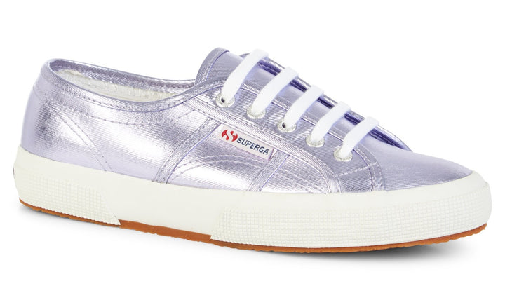 Superga 2750 Cotmetu Womens Violet Lilac Lace Up Trainers