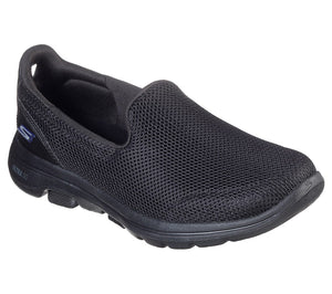 Skechers 15901 Go Walk 5 Prized Black Slip on Shoes - elevate your sole