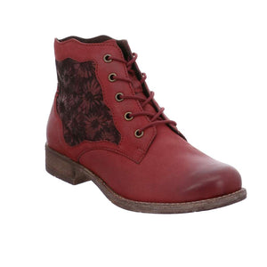 Josef Seibel Sienna 79 Red Combi Leather Boots - elevate your sole